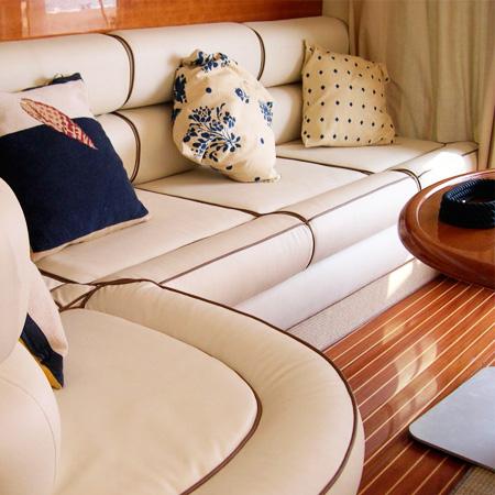 Limpieza de tapicería náutica