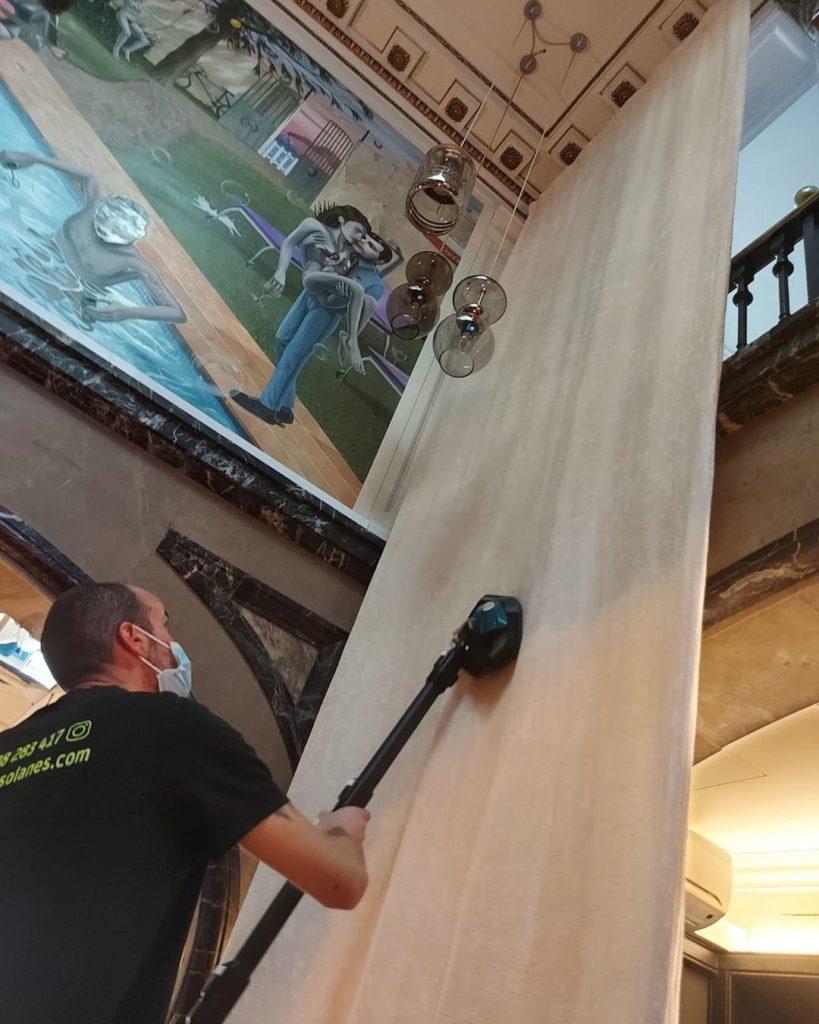 Limpieza de cortinas a domicilio privado en Barcelona